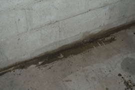 Basement Waterproofing Problem - Cove Seepage