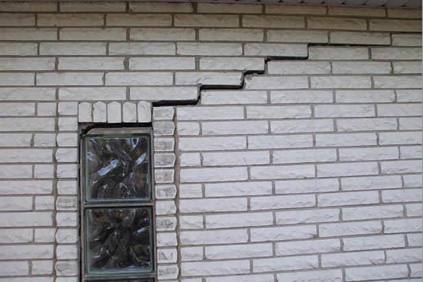 Stair Stepping Crack in a brickwork