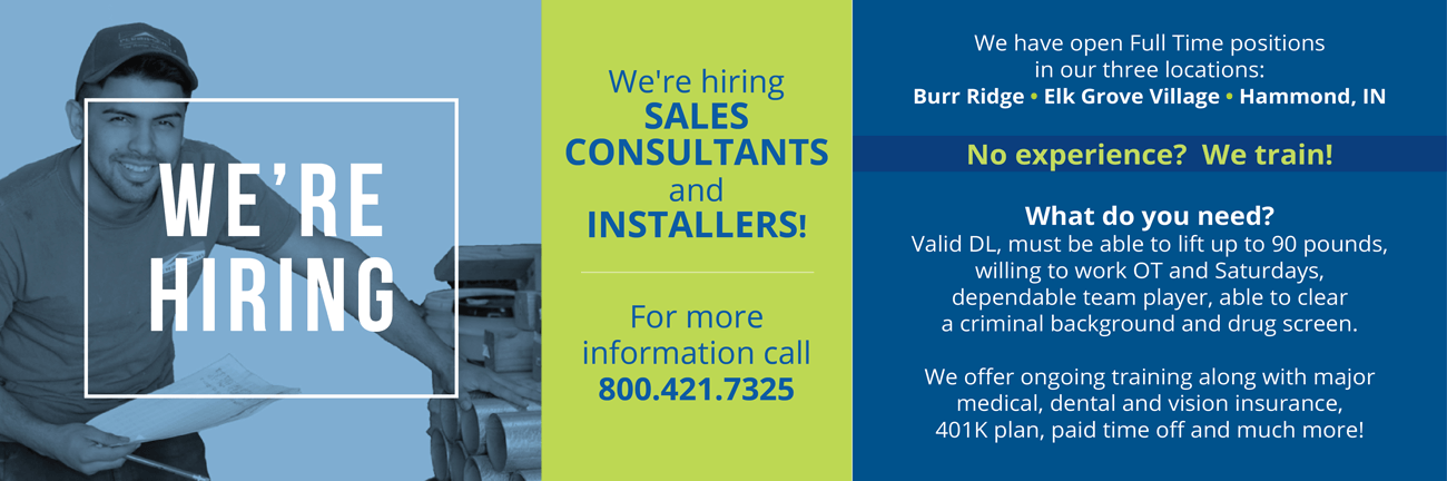 Hiring Sales Consultants and Installers