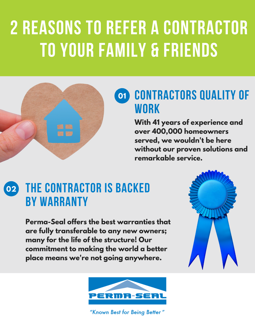 2 Reasons to Refer a Contractor to Your Family and Friends