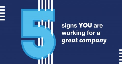 5 Signs You are Working for a Great Company