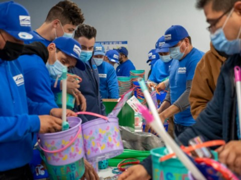 Perma-Seal Tribal Members Deliver 400 Easter Baskets to West Suburban Community Pantry