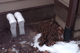 Yard and Drainage Problems - Frozen Discharge Line